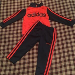 Adidas toddler boy tracksuit